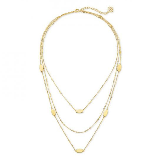 Fern Triple Strand Necklace In Gold