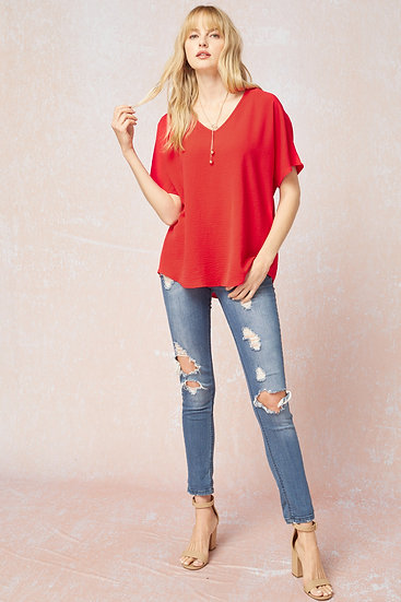Don't Wait Classic Top - Red