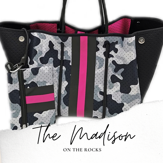The Madison Neoprene Tote (Taylor Gray)