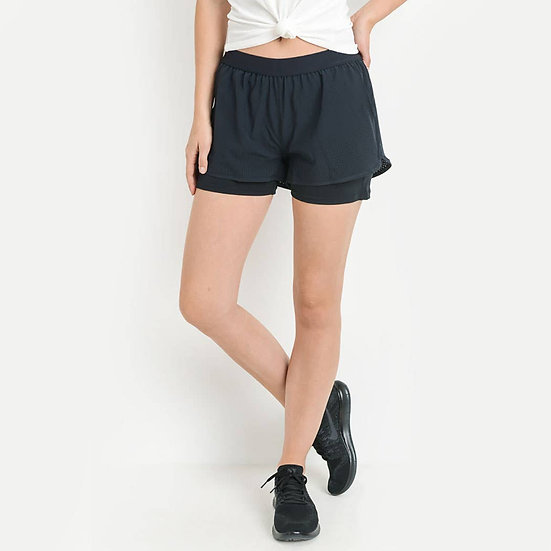 On The Run Black Shorts