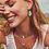 Thumbnail: McKenna Gold Drop Earrings In Matte Iridescent Mint