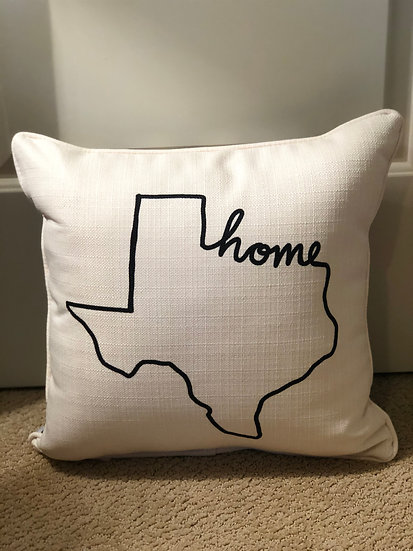 Black Home  State Outline Pillow With Cheetah Print On Back