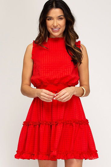 Acknowledged Beauty Red Smocked Dress