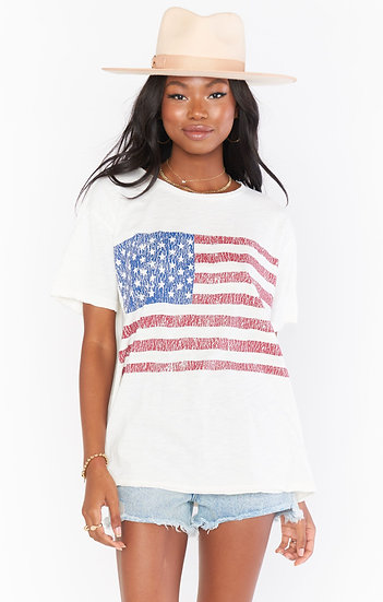 Cooper Tee - American Flag Graphic