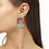Thumbnail: Masie Gold Open Frame Earrings In Mint Mix Paracord