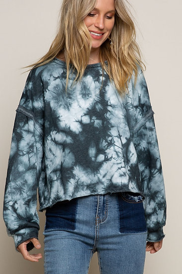 Galaxy Black Tie Dye Sweatshirt