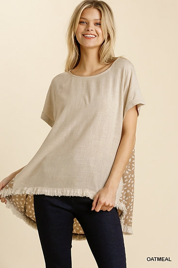 Full Of Ideas Oatmeal Brown Spotted Tunic