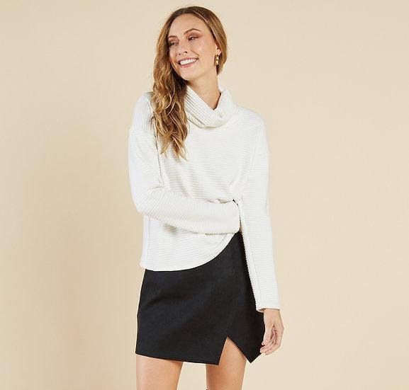 Emmy Suede Skirt - Black