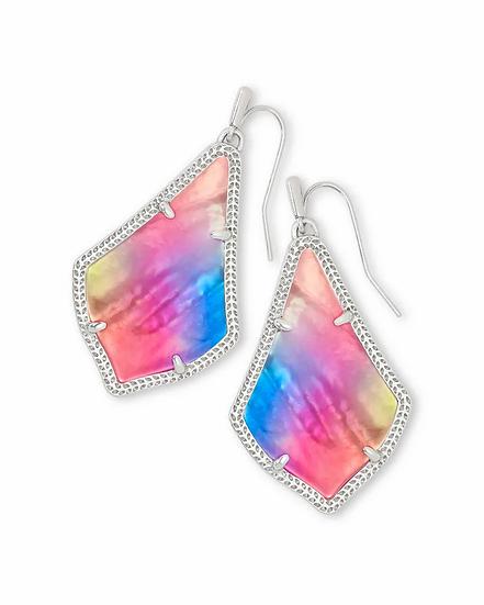 Alex Silver Drop Earrings In Watercolor Illusion