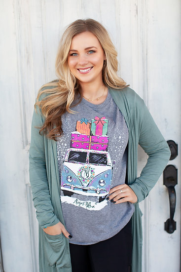 Grey Volkswagen Graphic Long Sleeve Tee