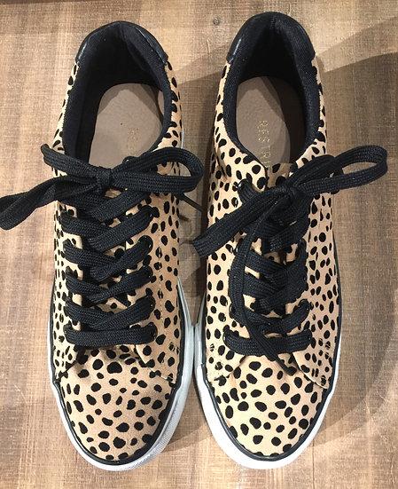 Cheetah Print Tennis Shoe