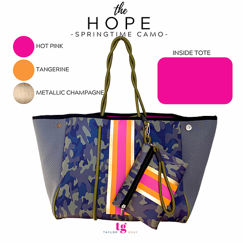 The Hope Neoprene Tote (Taylor Gray)