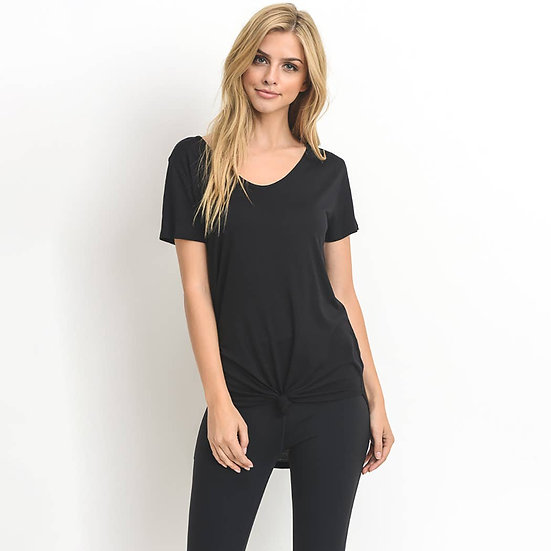 It's All You Black Short Sleeve Top