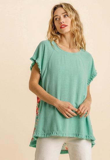 Lighten The Mood Emerald Green Floral Top