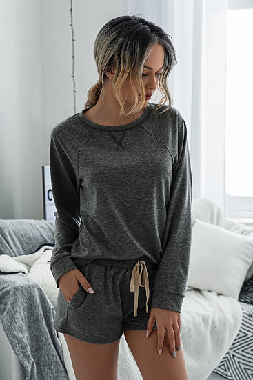 Do Anything For You Lounge Set - Grey