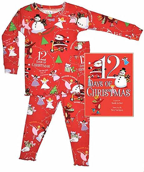 Books To Bed 12 Days of Christmas Girl Pajama Set