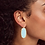 Thumbnail: Faceted Elle Gold Drop Earrings In Light Blue Magnesite
