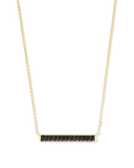 Jack Gold Pendant Necklace In Black Spinel