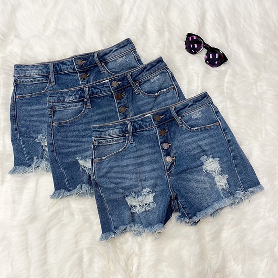 Claire Distressed Jean Shorts