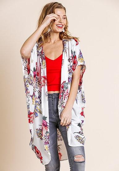 Such A Joy White Floral Kimono