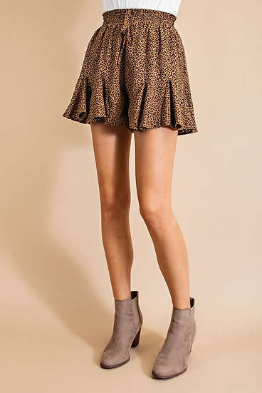 Nothing But Fun Mocha Spotted Skort