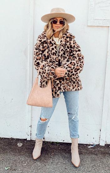 Cordelia Leopard Faux Fleece Jacket  (Show Me Your Mumu)