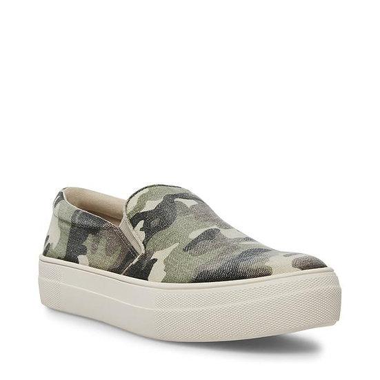 Green Camo Slip-On Sneakers (Steven Madden)