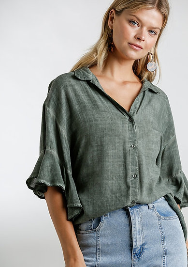 Classic Charm Top - Army Green