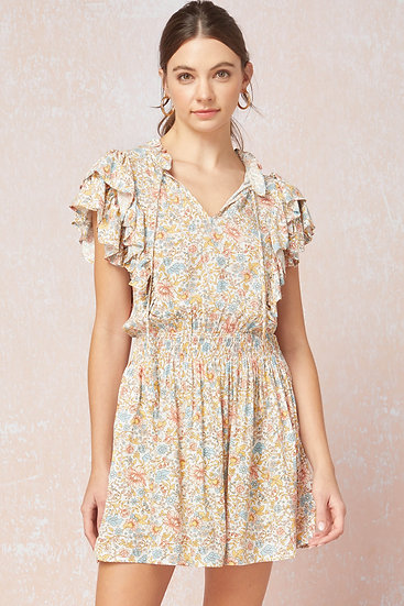 Influenced By Florals Ivory Dress