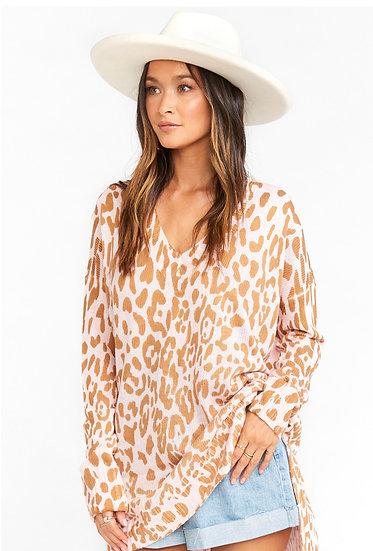 Pink Cheetah Sweater (Show Me Your Mumu)
