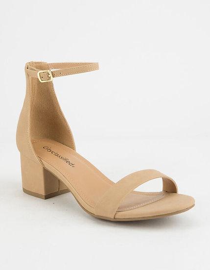 Tan Heeled Sandal