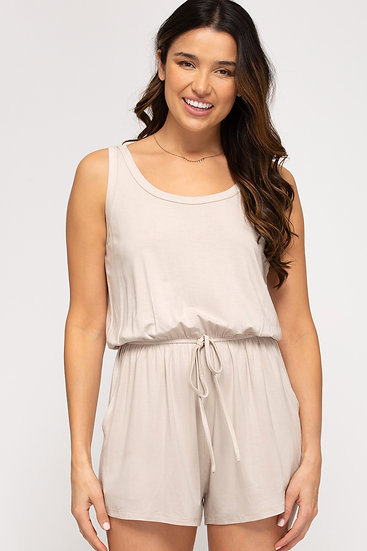 Do Anything For You Light Taupe Romper