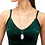 Thumbnail: Faceted Reid Long Pendant Necklace In Matte Iridescent Lilac Glass