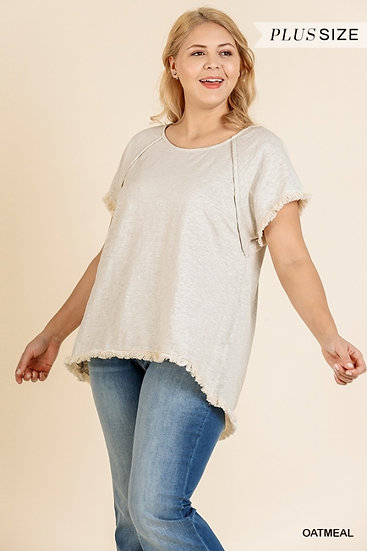 Throw On And Go Oatmeal Top