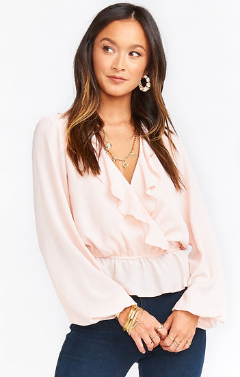 Brewster Top - Pink Speckle Dots (Show Me Your Mumu)