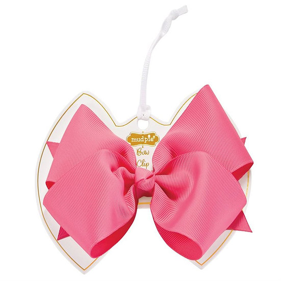 Hot Pink Bow Clip