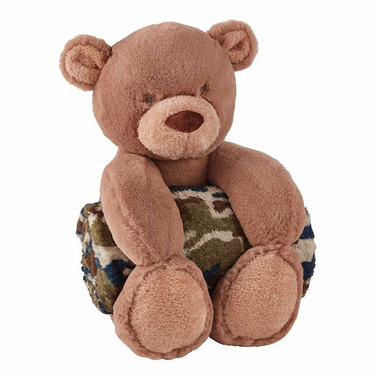 Camo Bear Plush Toy With Blanket