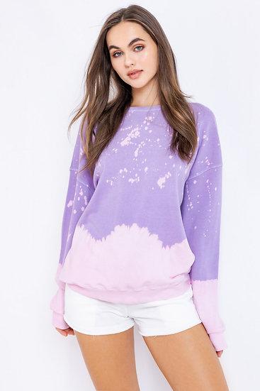 Start The Day Purple Tie Dye Sweatshirt