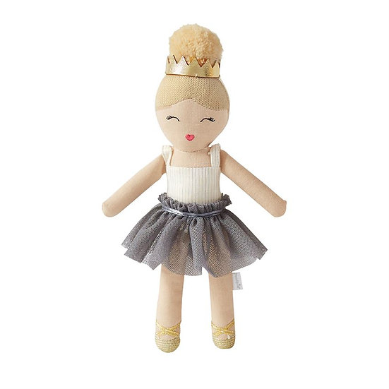 Grey Tutu Plush Ballerina Rattle
