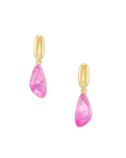 Ivy Drop Earring Gold Deep Blush Mother Of Pearl