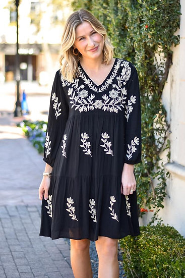 The Madeline Dress- Black