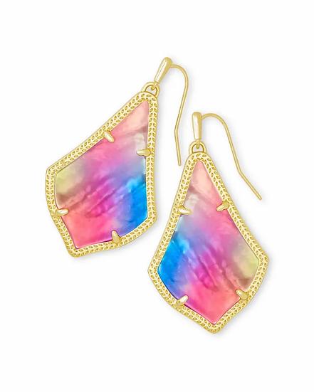 Alex Gold Drop Earrings In Watercolor Illusion