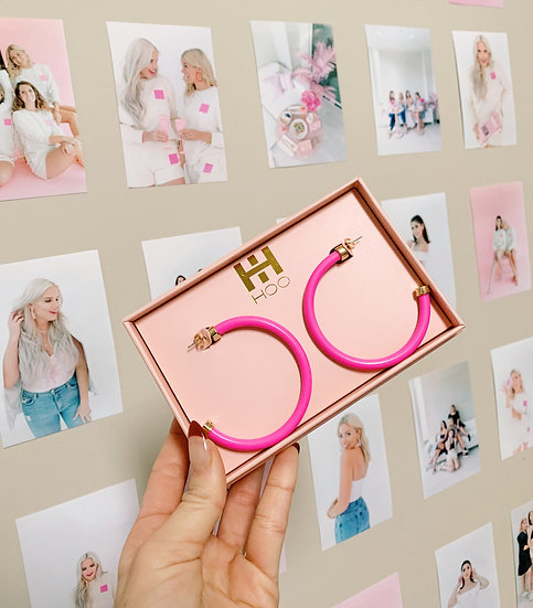 Hot Pink Hoo Hoop Big