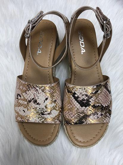 Vacay Snake Espadrille Platform Sandals