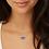 Thumbnail: Elisa Gold Satellite Pendant Necklace In Teal Tie Dye Illusion