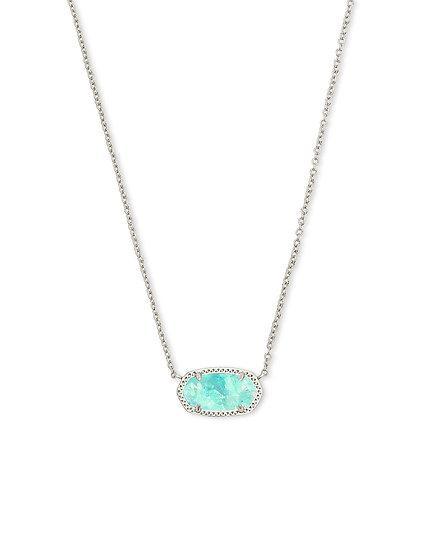 Elisa Rhod Necklace In Iridescent Mint Illusion