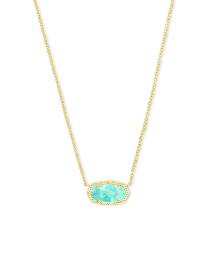 Elisa Gold Necklace In Iridescent Mint Illusion