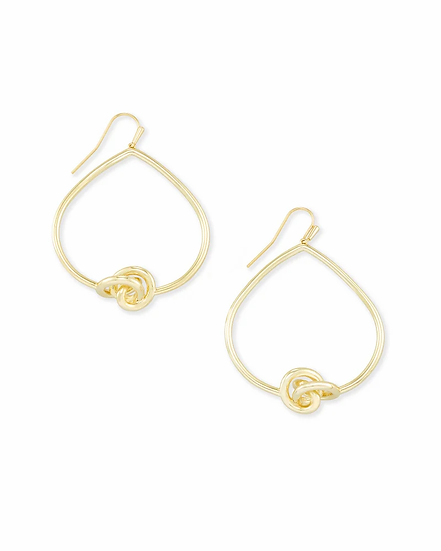 Presleigh Love Knot Open Frame Earrings In Gold
