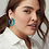 Thumbnail: Sonnie Sterling Silver Hoop Earrings In Turquoise Magnesite