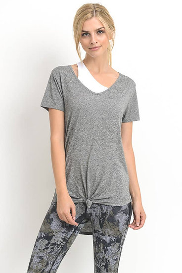 It's All You Grey Short Sleeve Top